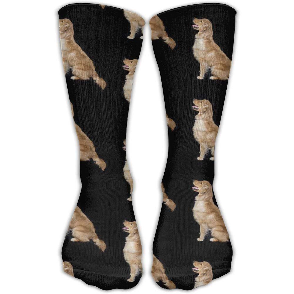 Golden Retriever Dogs Crew Socks Cotton Casual Knitting Warm Winter Socks