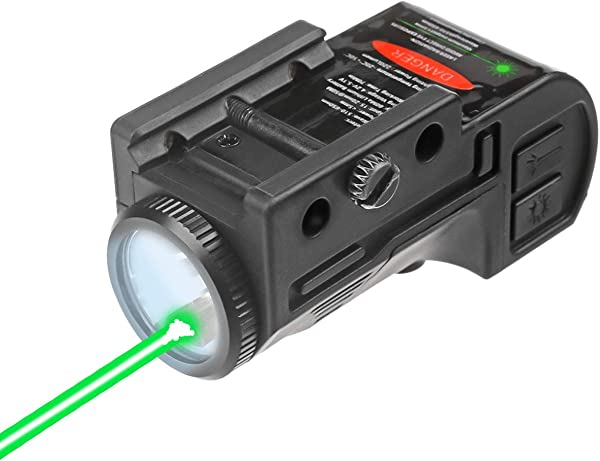 Lasercross CL105 New Magnetic Charging Internal Green Laser Sight & Flashlight Laser Combo with Rechargeable Battery Inside,Used for Most of Handguns