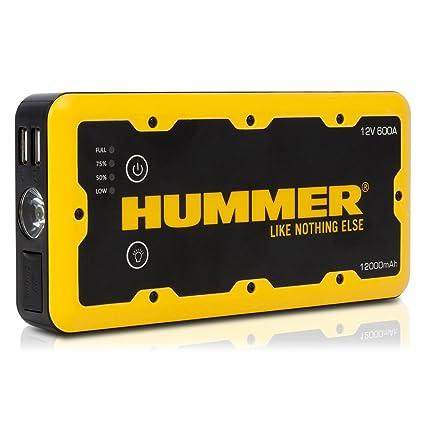 Hummer HUMM12000 Arrancador de Bateria para Coche 12000mAh: Amazon ...