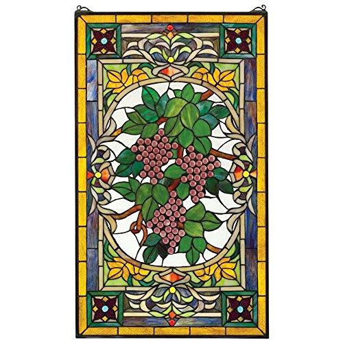 Stained Glass Panel - Fruit of the Vine Grape Stained Glass Window