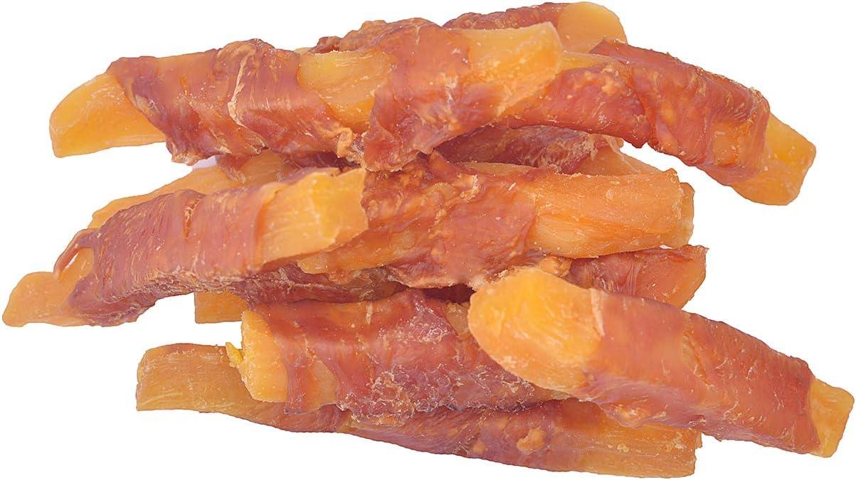 Pawant Dog Treats Chicken Wrapped Sweet Potato Dog Treats, Puppy Training Snacks, Gluten & Grain Free Rawhide Free Treats