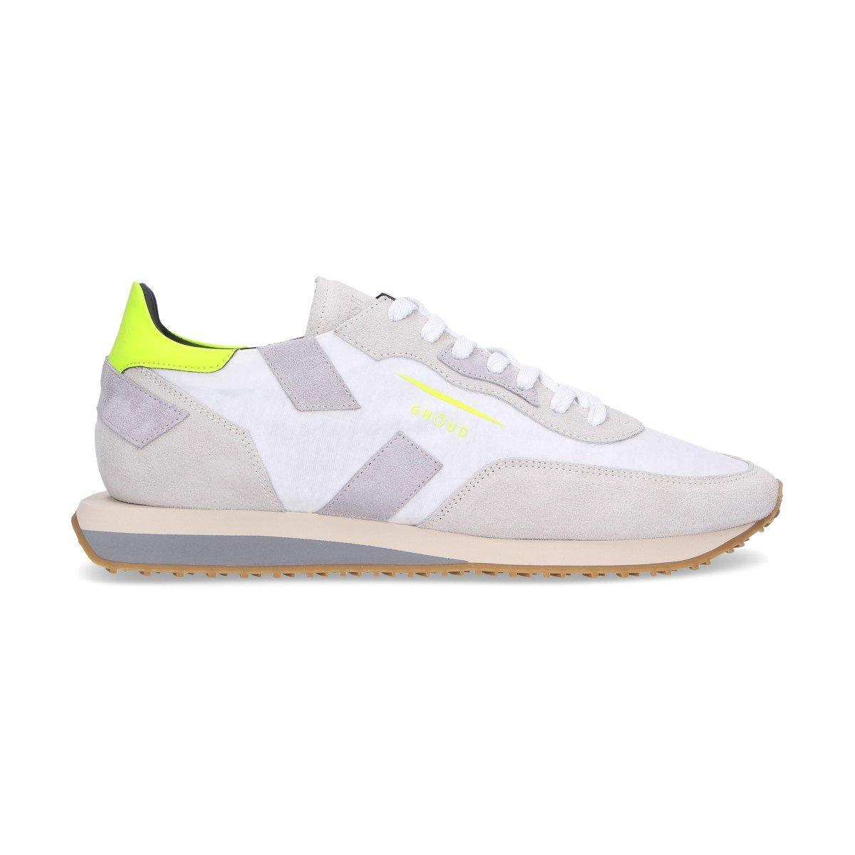 - GHOUD Men's ERSLMNS14 White Suede Sneakers