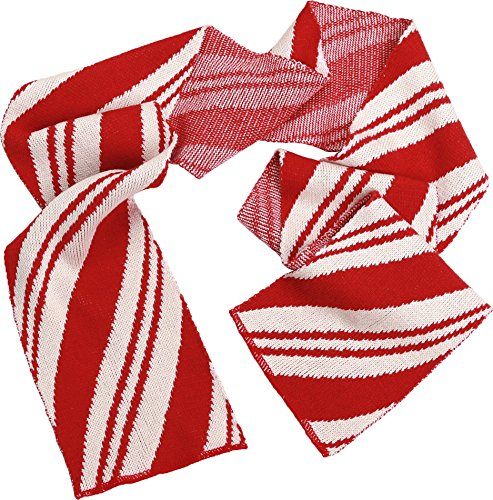 Green 3 Winter Holiday Fashion Sweater Christmas Knit Scarf (Red/White Candy Cane) - Womens Recycled Cotton Fashion Scarf, Made in The USA (One Size)