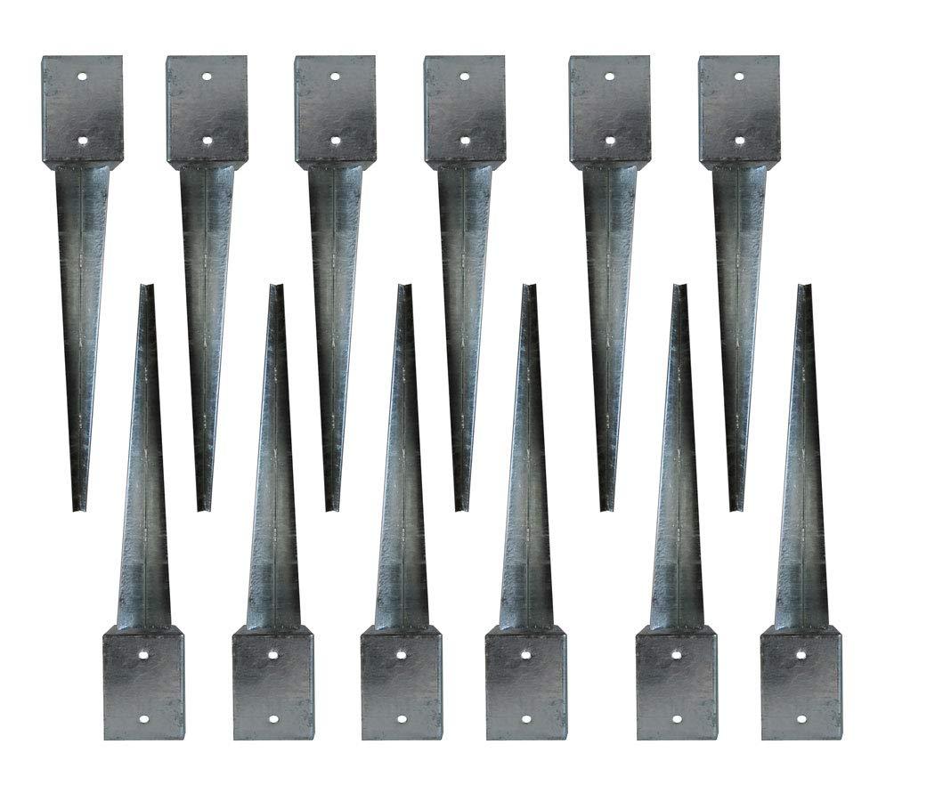 Bodenh/ülse 710x710x900 Einschlagbodenh/ülse Pfostentr/äger Anker Pfostenhalter 12