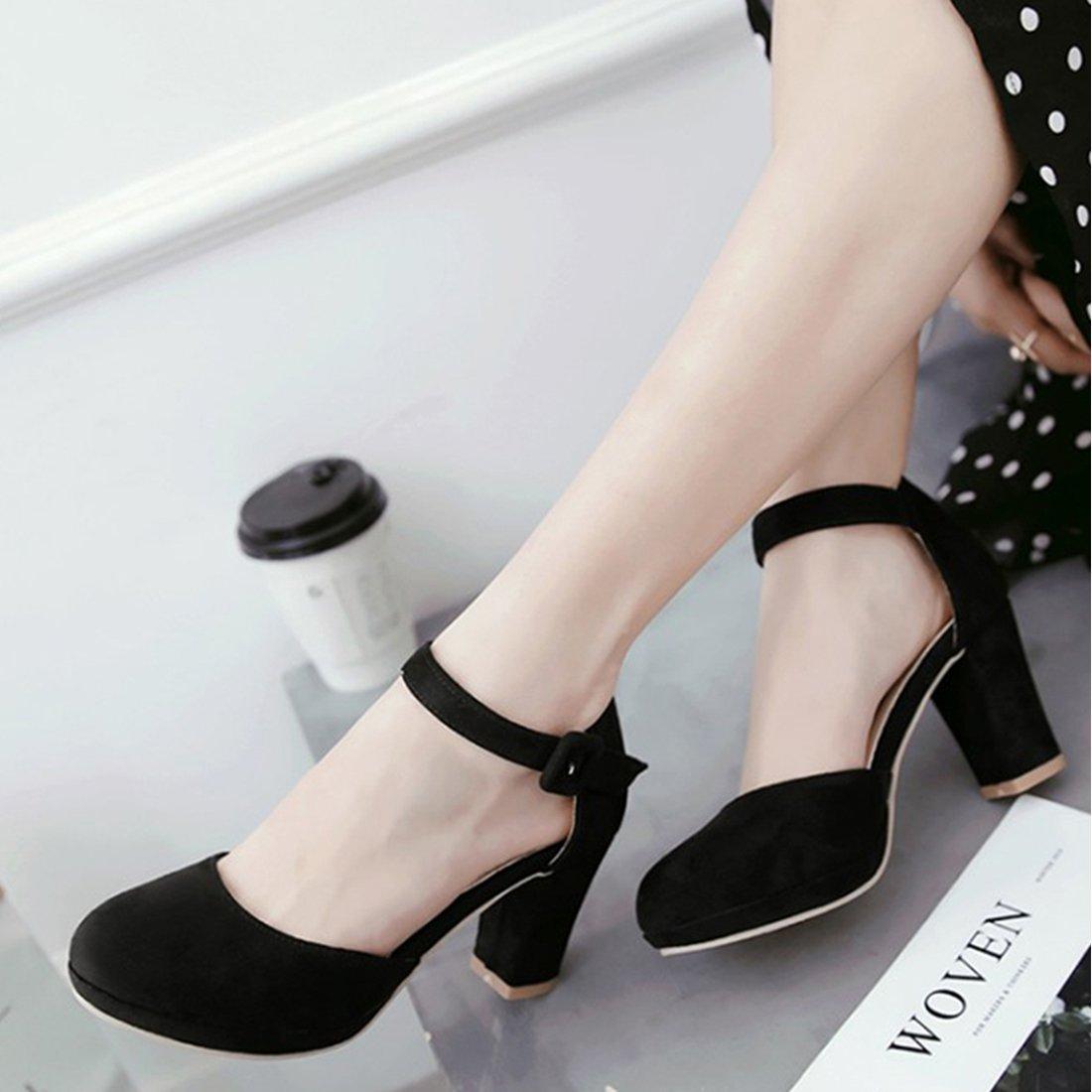 Agodor Damen Peeptoes High Heels Sandalen mit Plateau und Riemchen Stiletto  Lack Pumps Moderne Schuhe Schwarz , Agodor Damen Peeptoes High Heels  Sandalen ... 94adb817a4
