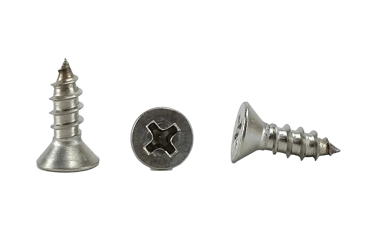 #8 X 1 Stainless Phillips Flat Head Sheetmetal Screw #8 x 1 82 Degrees 1//2 to 2 in Listing 100 Sheet Metal Screws