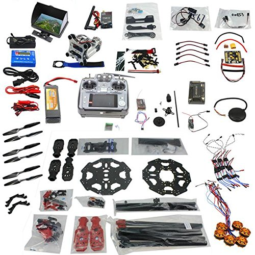 QWinOut Full Set 6-axis Hexacopter Drone Kit: Tarot 680PRO Frame + APM 2 8  Flight Control + 700KV Motor + GPS + AT10 Transmitter with FPV Function by