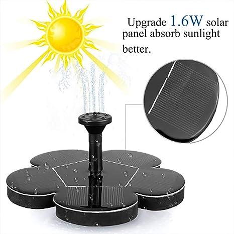 Amazon com : Solar Fountain Pump, 1 6W Garden Solar Powered