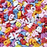 Natural Rainbow Confetti Alphabets cake decorations cupcake toppers
