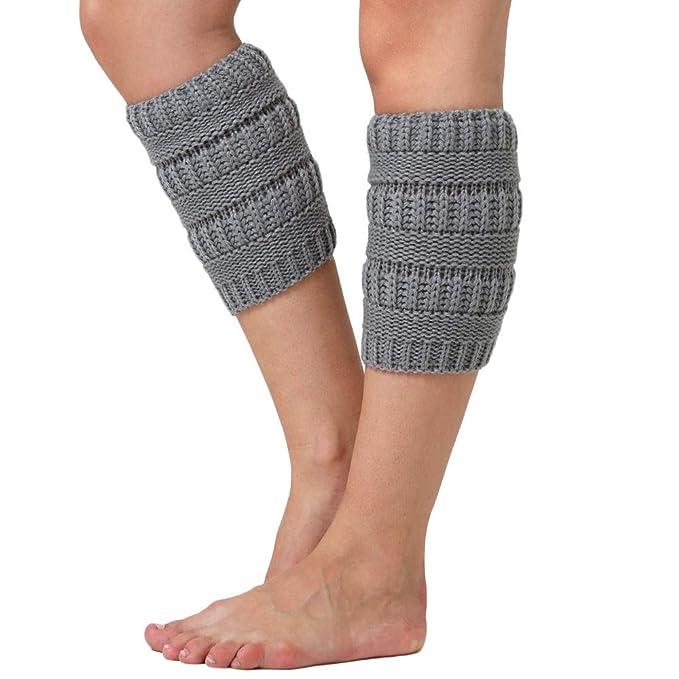 URSING Stulpen Damen Mädchen Winter Zopfmuster Stulpen Socken ...