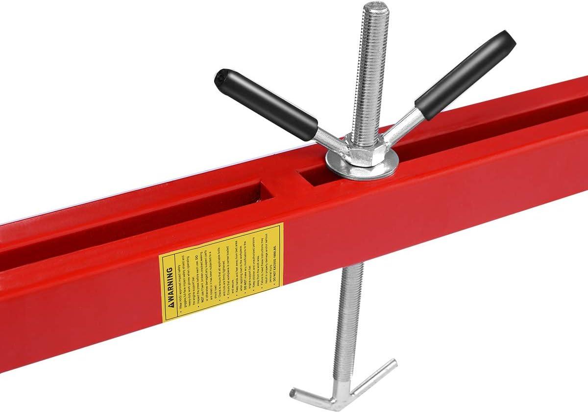 Goplus 1100lbs Engine Support Bar Transverse for Motor Tranny Transmission w/ 2 Points Lift Holder Hoist Dual Hooks: Automotive