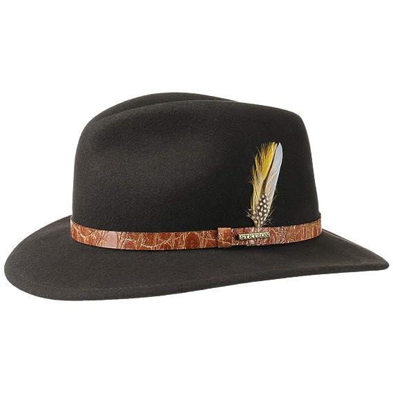 Stetson Vashon VitaFelt Fedora Hat wool outdoor (XL (60-61 cm ... 1c96bcdc1959