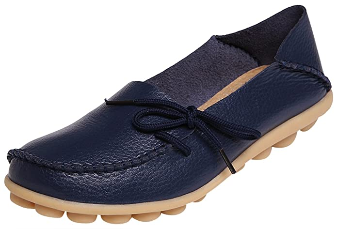 Serene Women's Leather Cowhide Driving Loafers