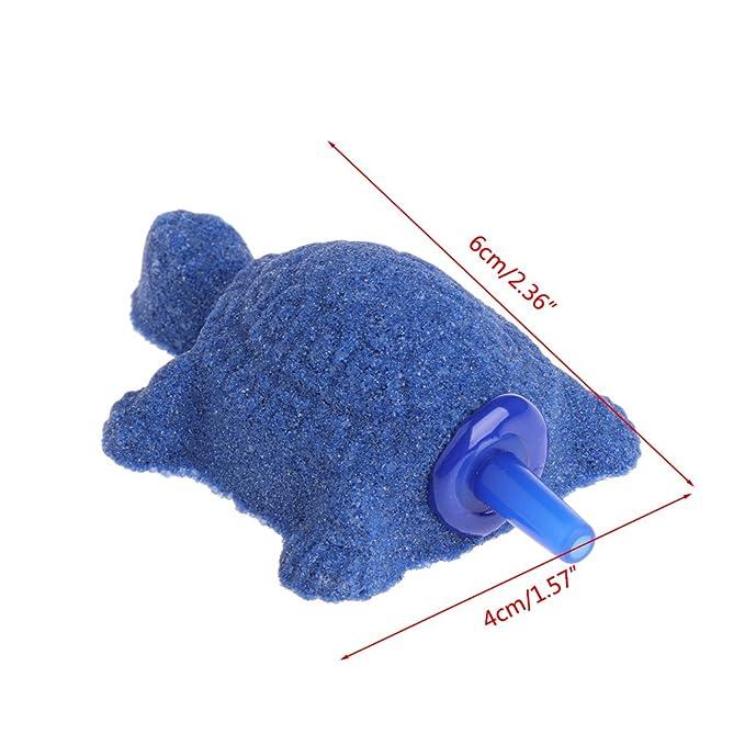 Amazon.com : SYlive Air Bubble Stone, Turtle Aquarium Bubble Fish Tank Aerator Oxygen Pump Stone (blue) : Pet Supplies
