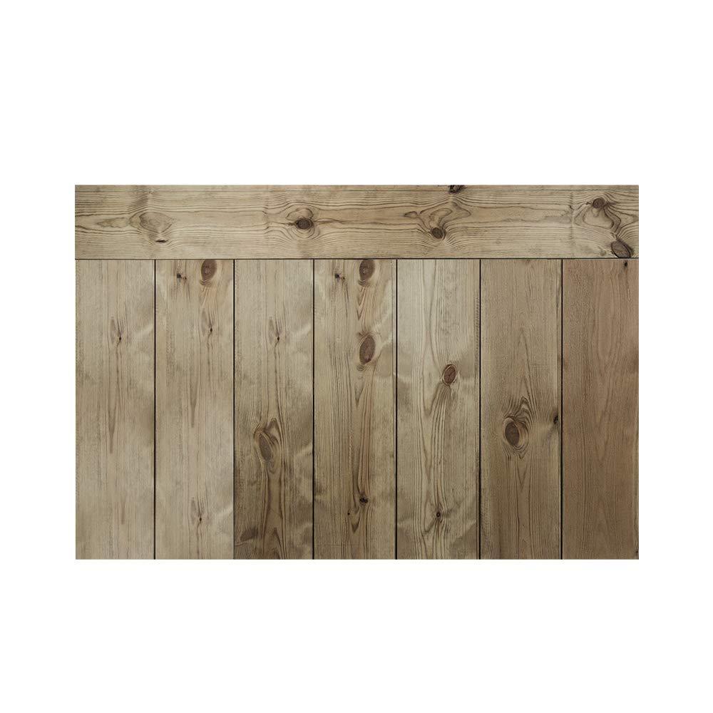 Crooked Forest con Lamas Combinadas Decowood Cabecero para Cama Dormitorio 80 x 60 cm Madera de Pino Natural