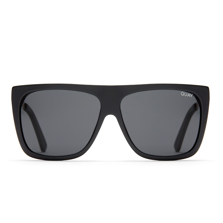 Quay Australia OTL II Women's Sunglasses Oversized Square Sunnies - Black/Smoke
