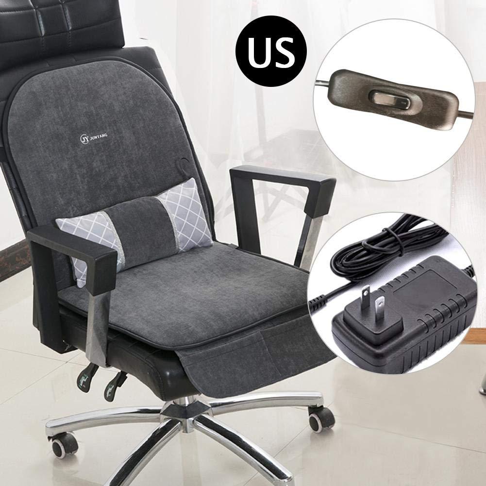 Everygo Heating Chair Cushion Chair Warmer Heated Warm Chair Pad Warm Office Chair Pad Heated Chair pad for Office Relief Lumbar Relax Cushion