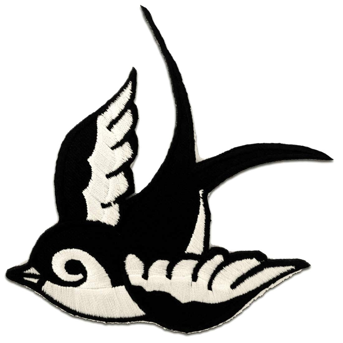 Black and White Peace Symbol Peace Dove Hippie Patch ''9,5 x 6,3 cm'' Patch - Embroidered Iron On Patches Sew On Patches Embroidery Applikations Applique Embroidered Iron On Patches Sew On Patches Embroidery Applikations Applique Catch The Catch-the-Patch.