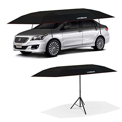A And M Auto >> Lanmodo Pro Semi Auto Car Umbrella Tent Cover Movable Carport Foldable With Anti Uv Water Proof Proof Wind Snow Storm Hail Falling Objects Features