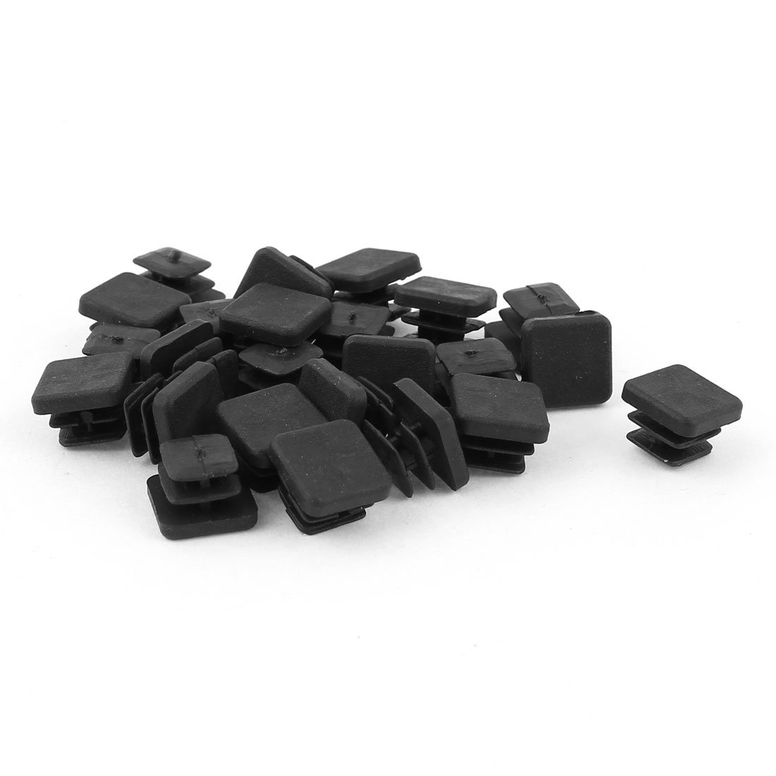 10mm x 10mm Plastic Square Caps Tubing Pipe Insert End Blanking 24 Pcs uxcell a14091000ux0110