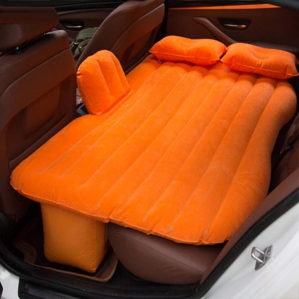 Orange  Lit d'air de Voyage d'air de lit de Voiture pour Le Matelas Universel Multi de fonctionl de Sofa d'oreiller de Camping en Plein air Le Coussin de Tapis, Bleu