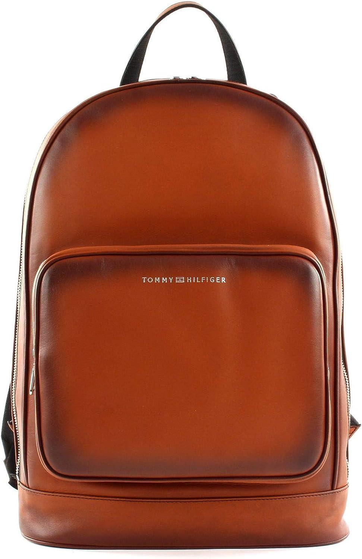 Tommy Hilfiger Backpack casual de cuero Congnac