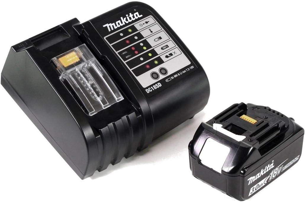 101 pi/èces Coffret de Rangement Chargeur Batterie 3,0 Ah Makita DHP482SFTK DHP 482 SFTK Perceuse-visseuse /à Percussion sans Fil 18 V 62 Nm