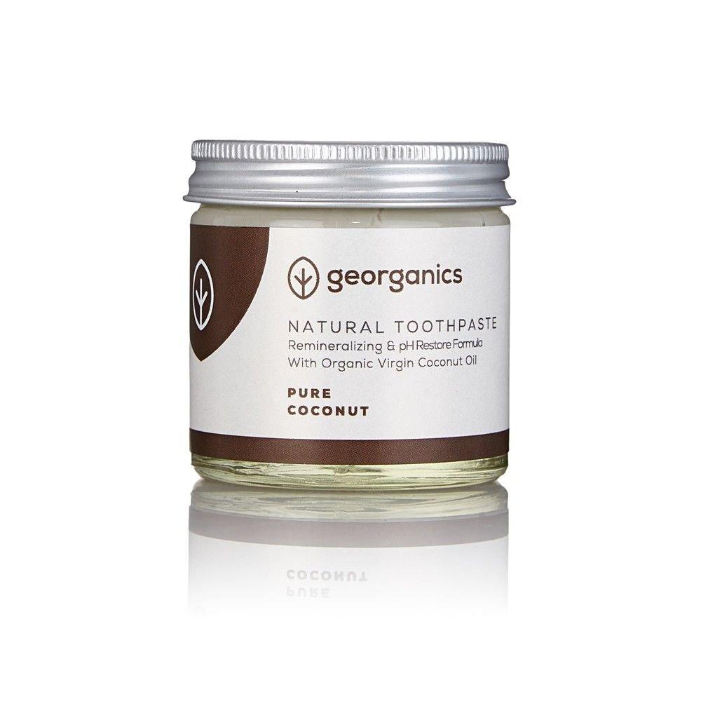GEORGANICS - Dentífrico Natural Remineralizante con Aceite de Coco - Puro Coco 120ML -GEORGANICS- - GEOCOCO120: Amazon.es: Salud y cuidado personal