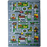 Childrens Area Rugs Kids Rug City Map 3' X 5' Children Area Rugs - Non Skid Gel Backing (39