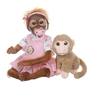 Amazon.es: CUTICATE Bebé Mono Reborn con Juguete de Peluche ...