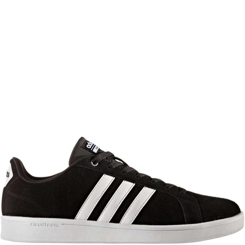 adidas Men's Cf Advantage Sneakers, Black/White/Matte Silver, (12 M US)