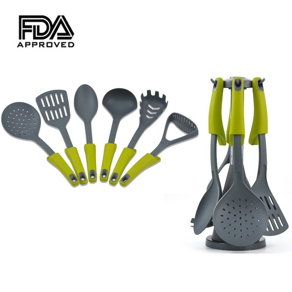 6 Stück Küchenutensilien Set Nonstick Utensil Set Silikon und Nylon ...