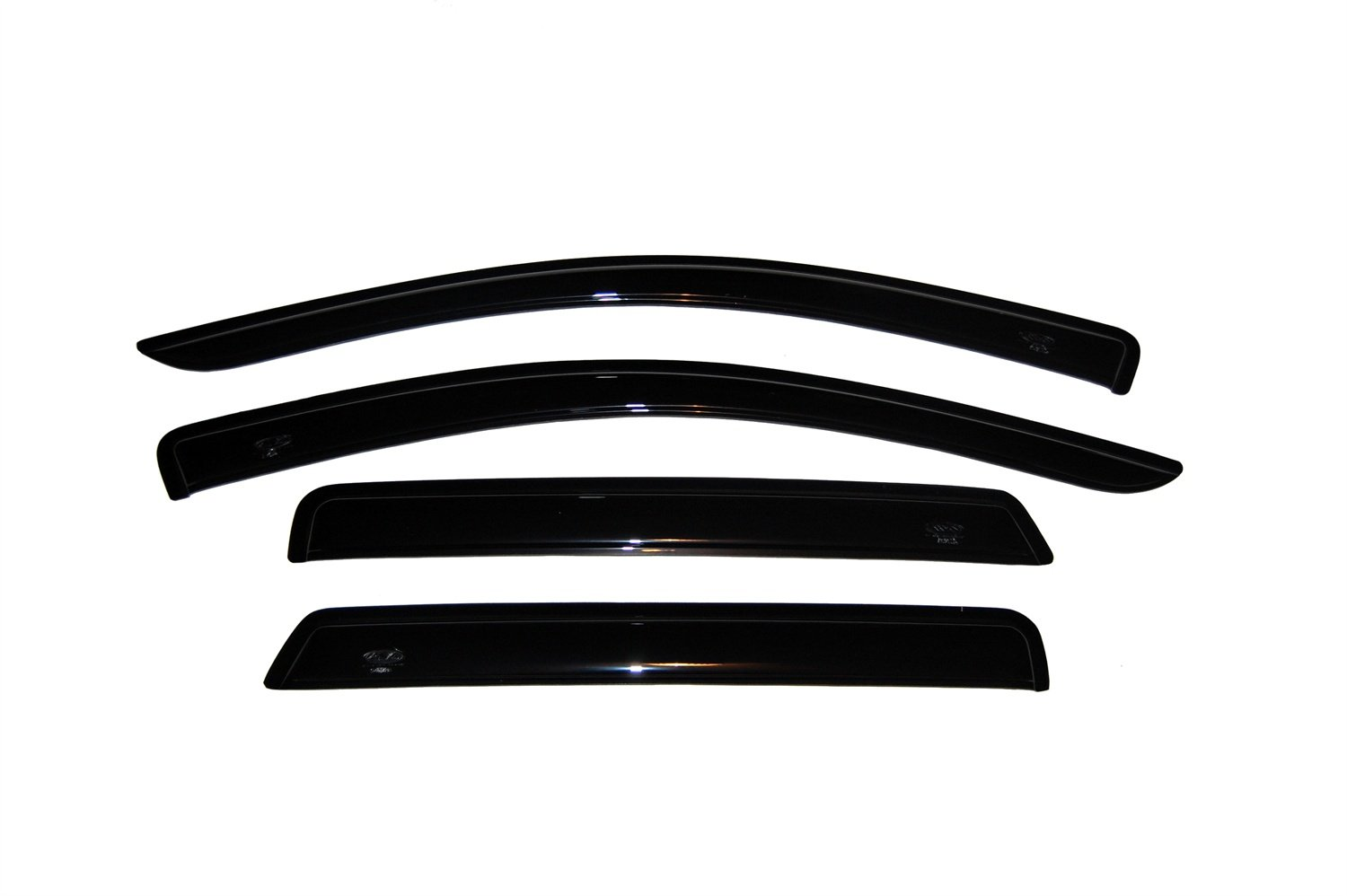 Auto Ventshade 94072 Original Ventvisor Side Window Deflector Dark Smoke, 4-Piece Set for 2008-2018 Dodge Journey
