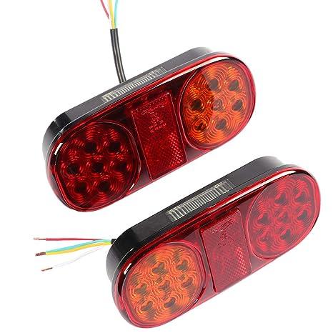 AOHEWEI 2stk Anh/änger R/ückleuchten LED Bremsleuchte Lkw Blinklicht Beleuchtung/Anzeige Lampe Anhalten Wasserdicht 10~30V zum Anh/änger Wohnwagen oder Van 53 led chips-2 st/ück