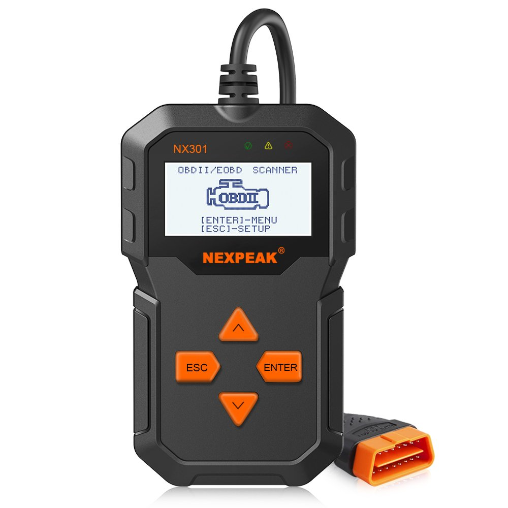 NEXPEAK NX301 OBD2 Scanner, Upgraded Code Reader Car Diagnostic Tool Engine Fault Code Scan Tool for Most of OBD2 Cars Since 1996 (NX301)