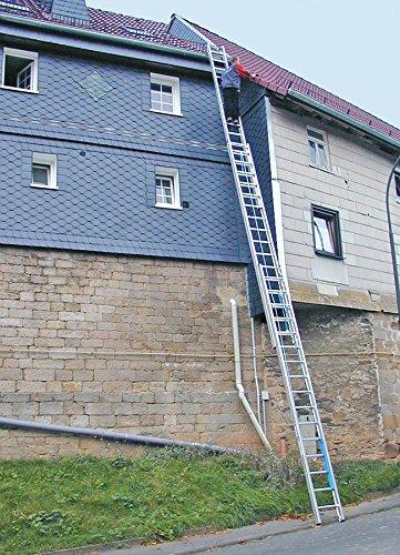 KRAUSE  leg021 Schiebeleiter Tripla von Seil mit 3 x 18 Sprosse, 12.45 M/5.3 m Lä nge For Demand Lda.