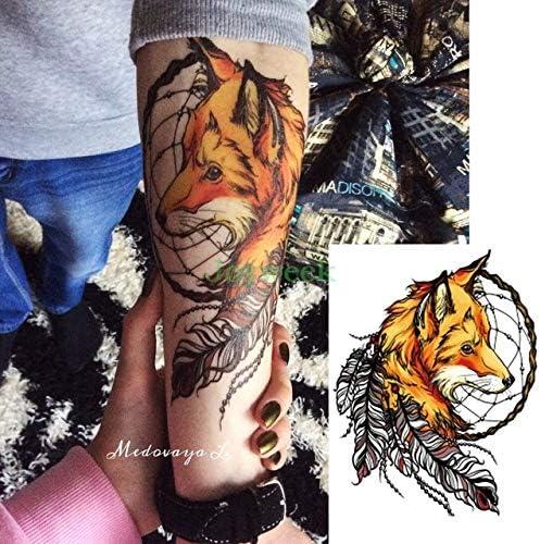 5pcs Tatuaje engomada Impermeable de Gran tamaño de los Lobos del ...