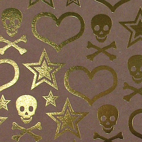 12x12 Rock Star Skull Gold Foil - 2 Sheets