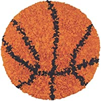 The Rug Market Shaggy Raggy Childrens Area Round Rug, Basketball