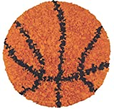 The Rug Market Shaggy Raggy Children's Area Round Rug, Basketball
