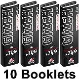 10x Gizeh Black King Size Slim Papers extra fine inkl. Filtertips perforiert (10x34/34) Magnetverschluss