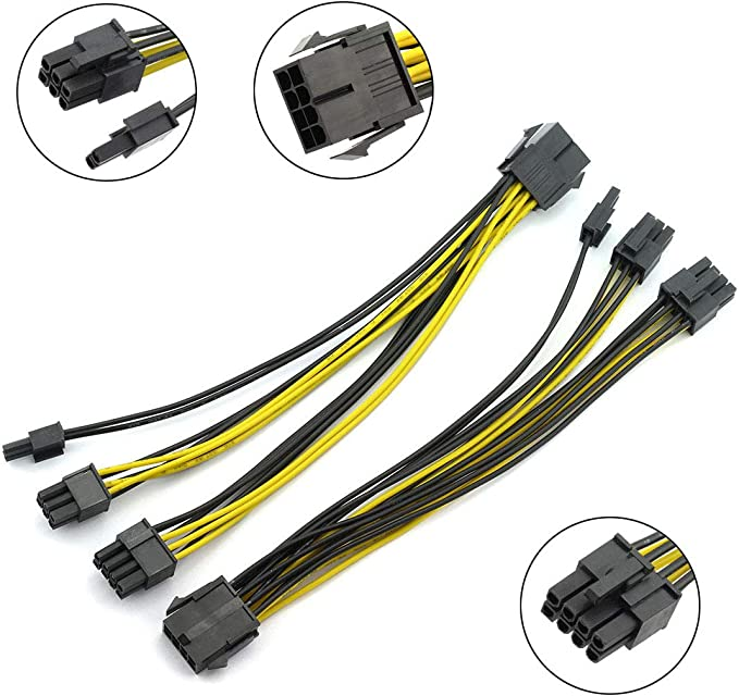 Amazon.com: DZS Elec 2pcs PCI-E 8-pin Female to 2X 8-pin (6+2) Male Adapter Power Splitter Cable 1 to 2 Converter for PCI Express 8-pin Powered GPU Video Card 20cm: Home & Kitchen