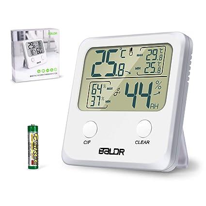 Digital Touch Screen Thermometer Hygrometer Luftfeuchtigkeit Messer Indoor NEU