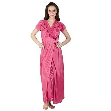 6c0bcd10b5 Bombshell Women s Satin Nightwear Set of 6 Pcs Nighty