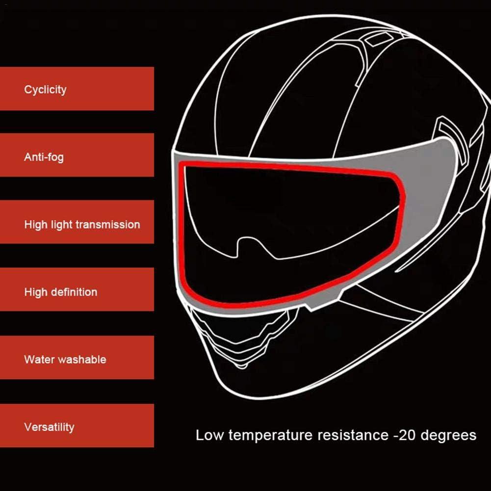 pel/ícula Universal del Remiendo del Casco Dettelin Pel/ícula antivaho del Casco Impermeable para la Motocicleta