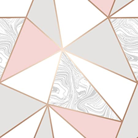 I Love Wallpaper Zara Marble Metallic Soft Pink Rose Gold ILW980105