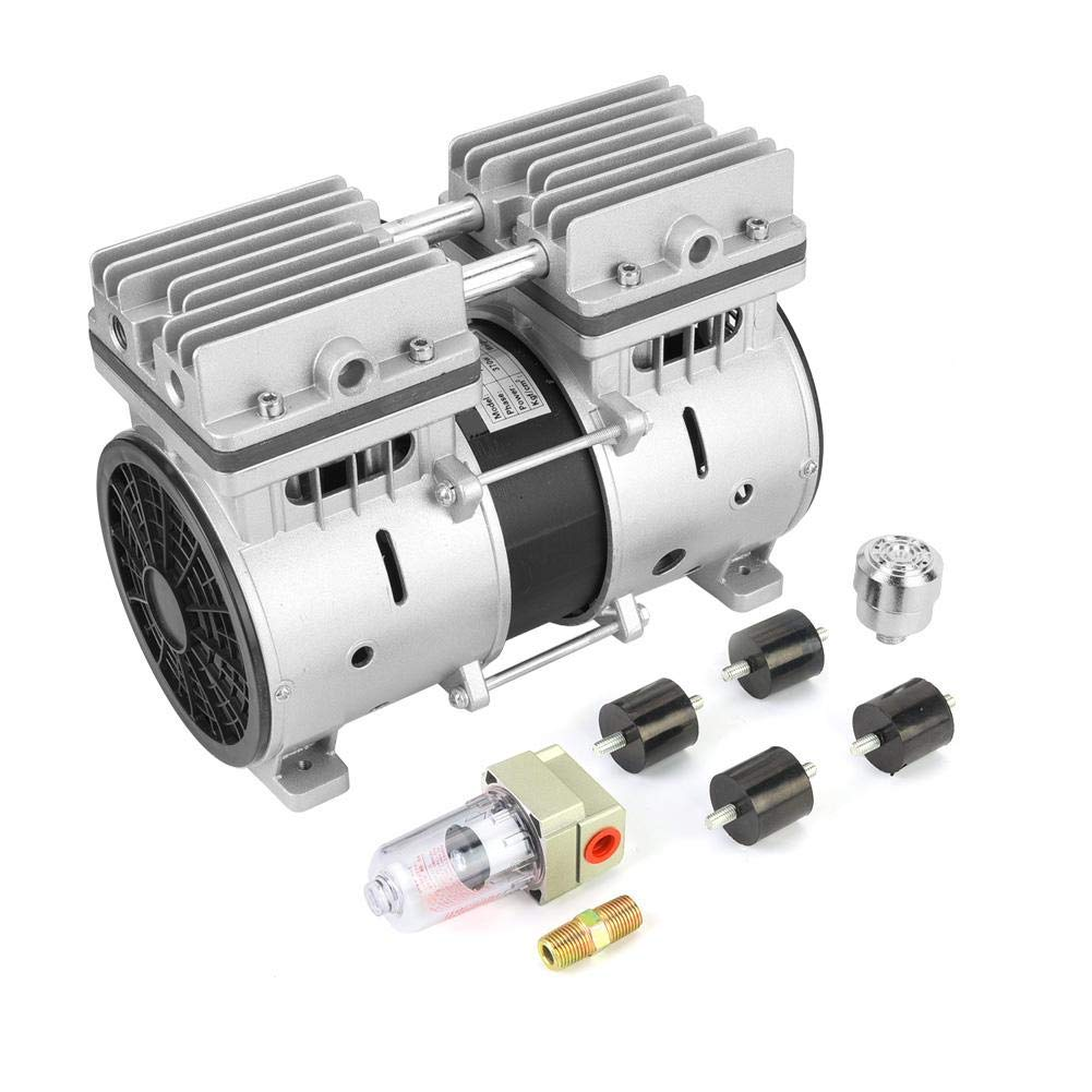 Vacuum Pump, 220V 370W Oil-Free Piston Air Compressor Pump,740mmHg/-98.6kpa 80L/min High Vacuum Air Pump