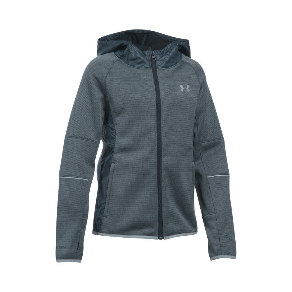 Under Armour Girls' Swacket, Stealth Gray/Stealth Gray, Youth Small by Under Armour