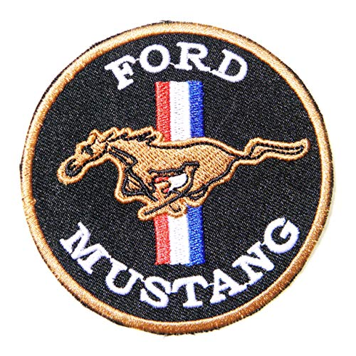 Ford Mustang V8 Motors Automotive Racing Logo Sign Car Patch Sew Iron on Applique Embroidered T Shirt Jacket Costume