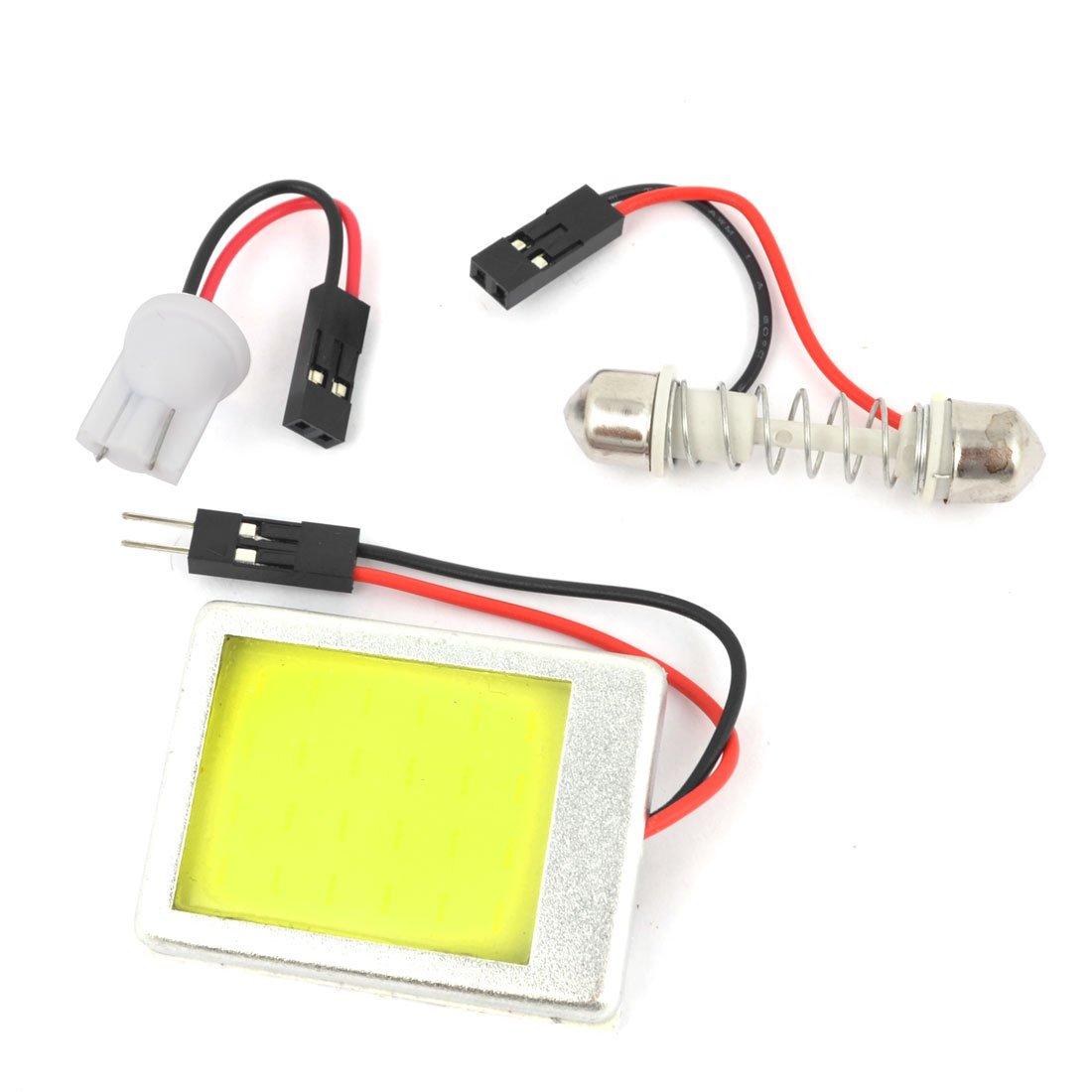 Sourcingmap Interne Voiture Blanc 36 COB LED Lumiè re Dô me Panneau w. T10 Festoon Adaptateur a14050600ux0919